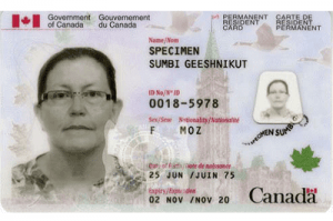 Permanent Residence Canada Sample